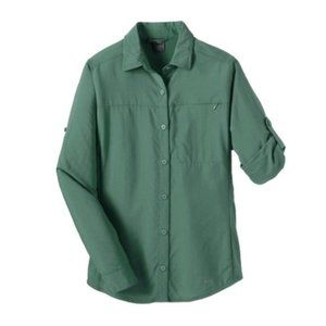 REI Sahara Hiking Traveling UPF 30+ Olive Shirt